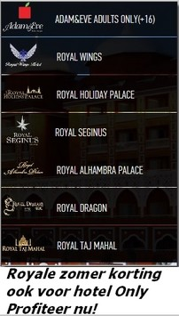 Royal Deluxe Hotels Aanbieding